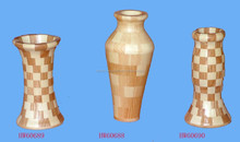 Fashion wooden vase dry mesa of contemporary sitting room place European whole wooden vase vase wood crafts