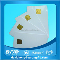 white PVC card with SLE4428 chip contact smart card hotel key card ISO7816 protocol