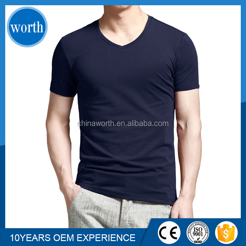 Bulk Buy Form China Mens Cheap V Neck White T Shirts V