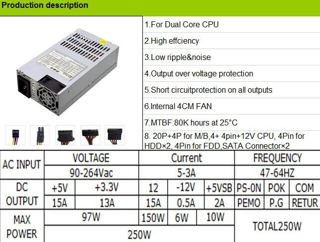 Mini Size Switch Power Supply Micro Atx Power Supply 250w - Buy ...