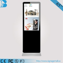 """65"""" free-standing Android Wifi 3G function remote lcd advertising display with Anti-theft"""