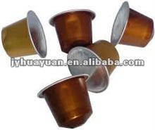 37mm Nespresso aluminum coffee capsule with lid