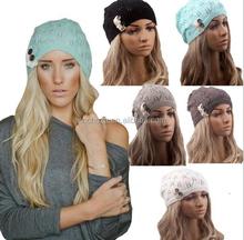 Z51034B New product for Wholesale OEM CUSTOM LOGO winter warm women wool crochet beanie hat and cap