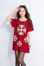 short sleeve print latest design summer woman top