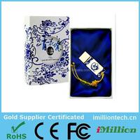 Chinese Ceramic USB flash drive pen drive blue and white porcelain USB flash memory stick Environmental friendly USB