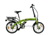 "2015 18"" aluminium alloy electric bike with 250w 8fun motor aluminium alloy frame cheap mini folding electric bicycle"