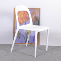 C49 white Plastic dining chair factory wholesale