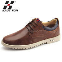B034 Huatton high quality leather fashion flat men's formal shoes
