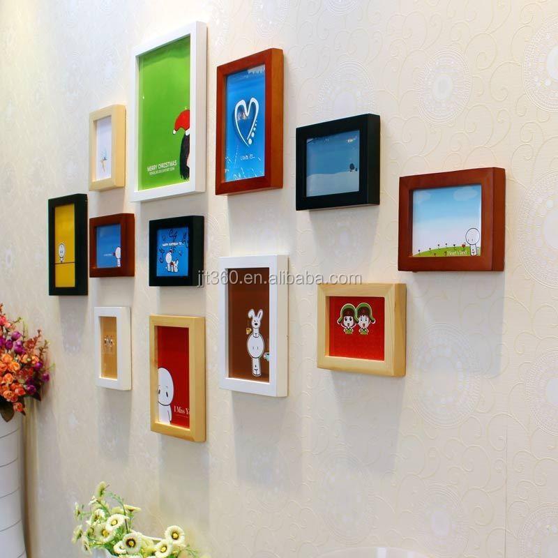 Wood Creative Decoration Multi Wall Hanging Photo Frame