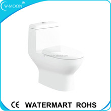 White Ceramic One Piece Closet WC European Toilet Seat