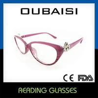 Taizhou duqiao cheap colorful rimless telescopic reading glasses