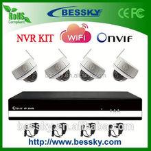 4 CH H.264 Wireless NVR Kit,ip camera night vision cam,hd wifi wireless ip mini dvr camera