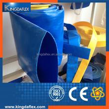 PVC Lay Flat Irrigation Hose Blue Color/Different Sizes of Flexible Plastic Hose