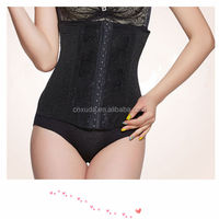 2014 new woman waist training shaper body slimming waist cinchers black lace corset girdles sexy body shapers for women