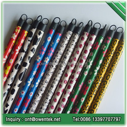 China manufacturer Owentek wooden broom handle cover with PVC