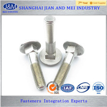 "ASTM A307 Gr.A 1"" Stainless Steel Zinc Plated Carriage Bolt"