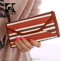 SK-6076 trifold PU leather travel wallets for girls yound ladies