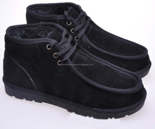Fashion 2014 Man Winter Short Boots Winter Fur Lace Up Casual Shoes for Men