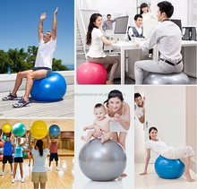 colorful multifunction anti burst yoga ball for body fitness and balance training