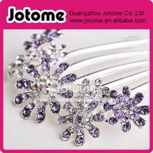 Charm Multiple Crystal Rhinestone Flower Pattern Tuck hair Comb ,Bridal Hair Pin Clip
