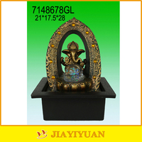 Indian Elephant God Resin Indoor Fountain with Led Light