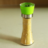 household mamual chili pepper grinder mill with ceramic cuttery ,glass jar