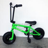scooter kids, 10inch green mini bike, bmx racing bicycle