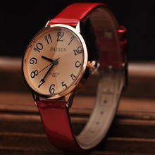 Watches Ladies Fashions Quartz Watch Dress Wristwatches Fashion Leather Strap Watches Big Numbers Clock