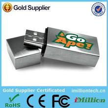 Bulk color metal flash usb drive,retangle shaped metal usb sticks 512mb to 32gb for promotional gift