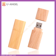 Hot Sale Free Sample Bamboo Swivel USB Flash Drive for Promotional Gift