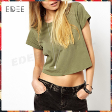 Good fit Wholesale ladies loose shirts half length design Custom High quality leisure T shirts