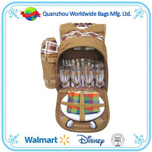 Picnic bag set, hot selling picnic bag, picnic backpack for 4 person