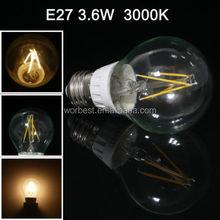 8 watt Glass harmonic drive color temperature adjustable control led bulb light filament LED Bulb Light Lamp for home designs