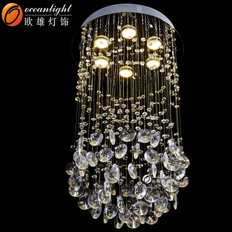 Restaurant Candelabra Led Crystal Chandelier Living Room