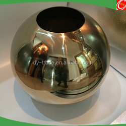 architecture garden decoration hollow stainless steel metal ball with gold plated
