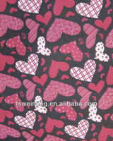 heart printing pvc coated fabric