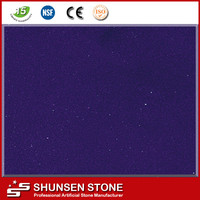 Absolute Purple Solid Surface Quartz Stone Countertop