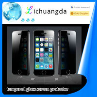 2014 explosion-proof 9h anti-spy tempered glass screen protector for iphone 5