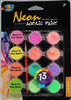 Neon Acrylic Paint + 4 Glow In Dark A0103-B,non-toxic,easy to use