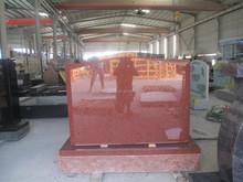 Indiano red granito lápide monumento headstne lápide / monumento de Xiamen