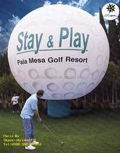 Custom outdoor use inflatable golf balloon for advertising