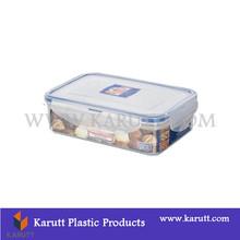 Custom rectanguar clear plastic storage fresh-keeping box