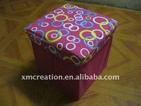 Pretty non-woven fabric cover collapsible storage box