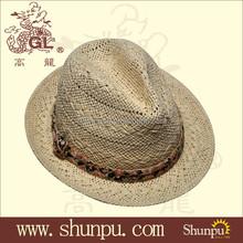 Man summer paper straw hats fedora hats trilby