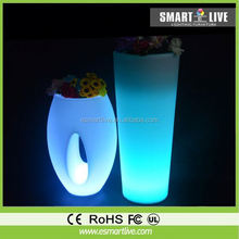 led colorful flower pot led magic pot