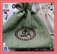 2015 Newest 7 WX9 H cm Handmade Hessian Drawstring Packaging Burlap Wedding Party Christmas Gift Pouches Jute Bags