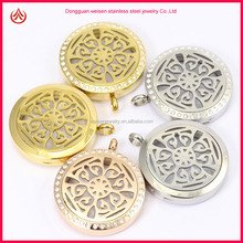 2015 Newest Arrival High Quality Stainless Steel Essential Oils Diffuser Floating Locket Pendant
