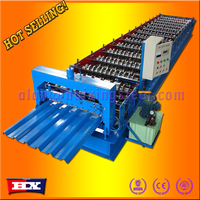 Effective width 1100 corrugated sheet metal roof making machine