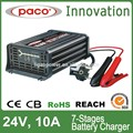 Cargador de Batería de Carro 24V 10A, 7 Estaciones de Carga Automática con CE, Con Capacidad de Reparar Baterías Dañadas