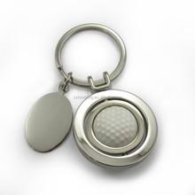 custom logo golf ball rotatable metal keychain